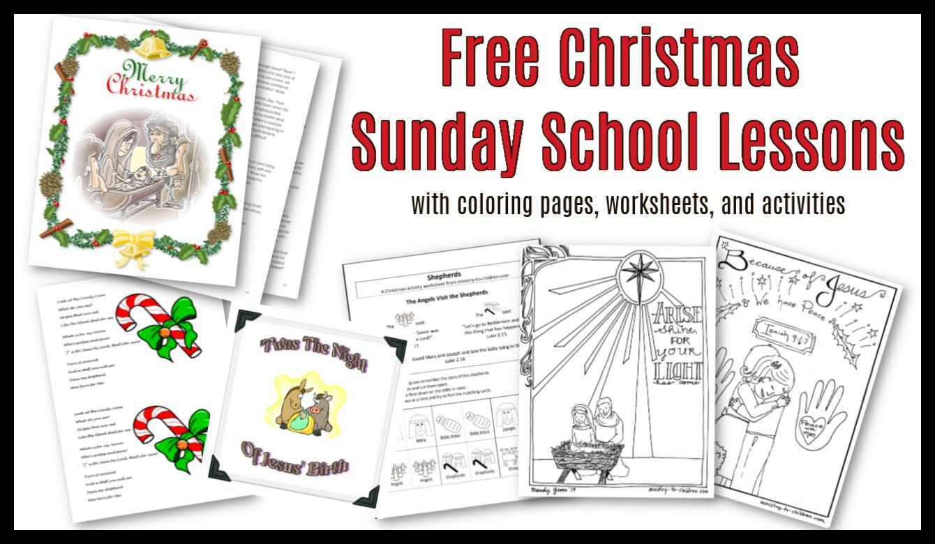 Christmas Sunday School Lessons & Activities - Sunday School ...